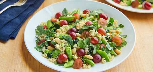 Hearty Quinoa Salad with Grapes and White Beans