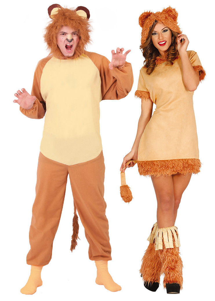 ... Adults Lion Costume Mens Ladies Animal Couples Fancy Dress Jungle Zoo Outfit NEW  sc 1 st  Costume Fantastic & Adults Lion Costume Mens Ladies Animal Couples Fancy Dress Jungle ...