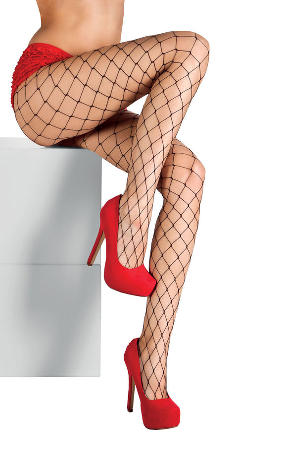 e70549ce7ed11 LADIES BLACK FISHNET PANTYHOSE TIGHTS HALLOWEEN FANCY DRESS BURLESQUE WIDE  HOLE