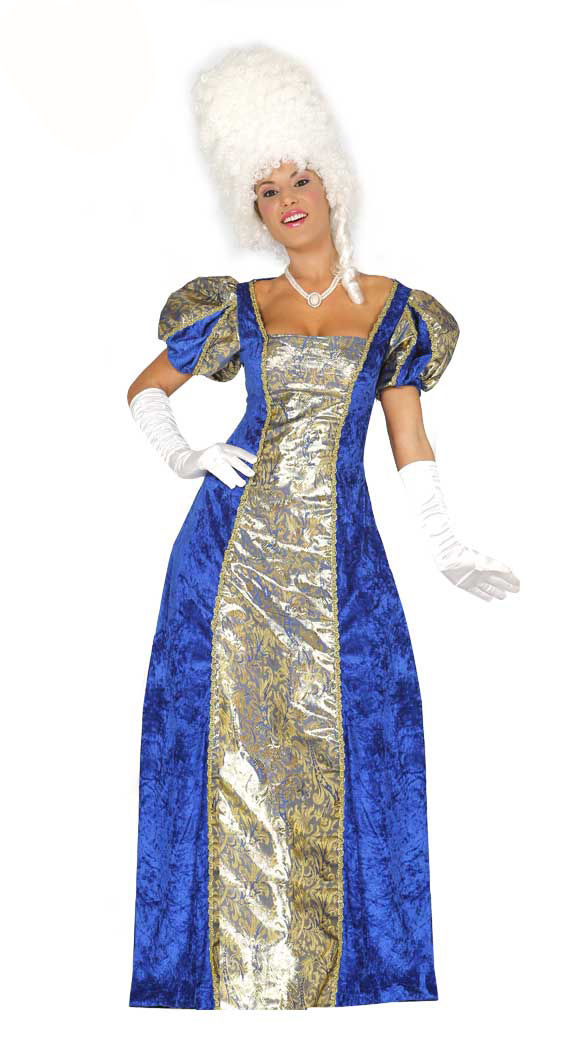 Ladies Blue Georgian Versailles Costume Venetian Ball Gown Fancy ...