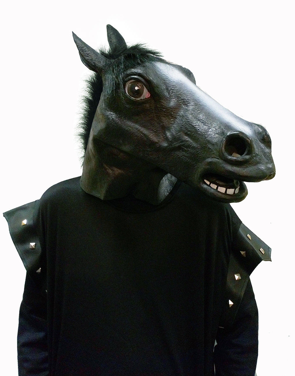 Horse Costume Mask Fancy Dress Black Beauty Pony Head Equestrian Hallo Costume Fantastic