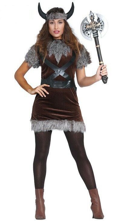 ADULTS VIKING HAT FANCY DRESS HORNS WITH TASH ROMAN SOLDIER WARRIOR HISTORIC