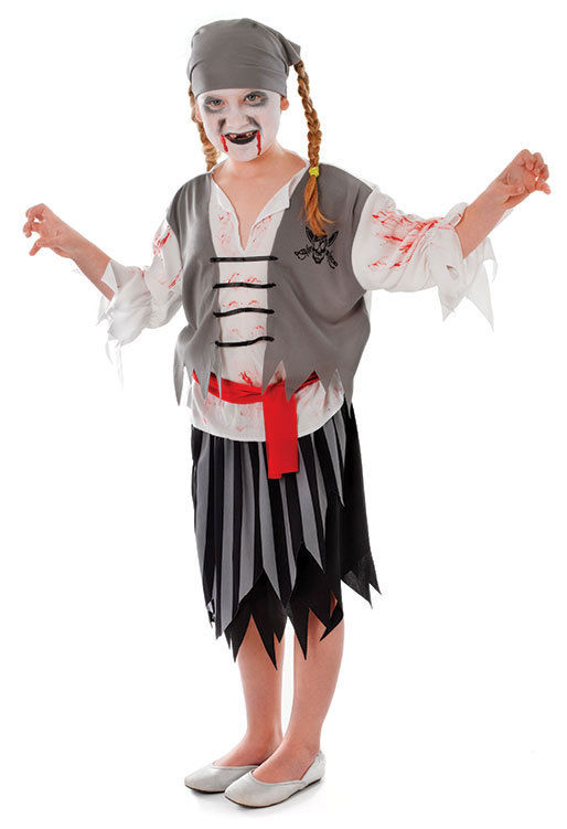 Halloween Costumes For Kids Girls Zombie.Boys Girls Zombie Sea Pirate Book Week Halloween Fancy Dress Costume Outfit New
