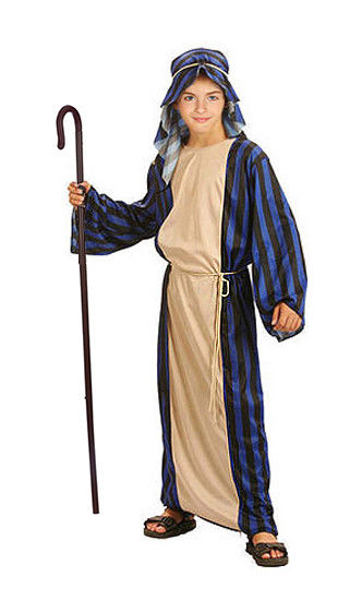 Boys Shepherd Joseph Nativity Play Kids Childrens Fancy Dress Costume Outfit