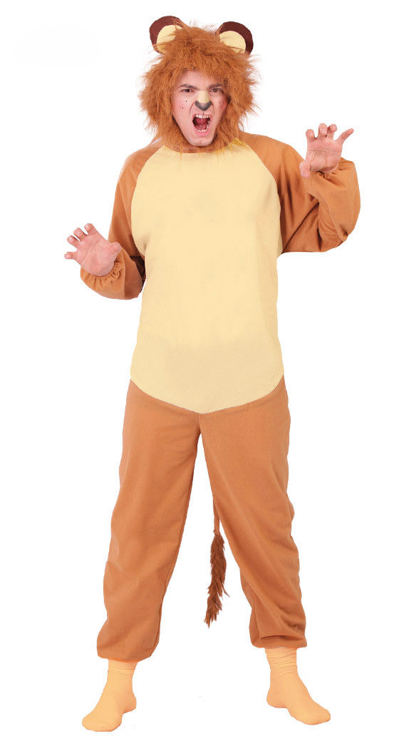 ... Adults Lion Costume Mens Ladies Animal Couples Fancy Dress Jungle Zoo Outfit NEW ...  sc 1 st  Costume Fantastic & Adults Lion Costume Mens Ladies Animal Couples Fancy Dress Jungle ...