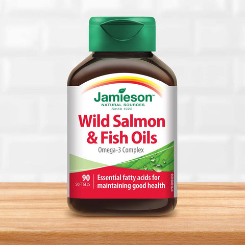 Wild Salmon & Fish Oils Omega-3 Complex 1,000 mg