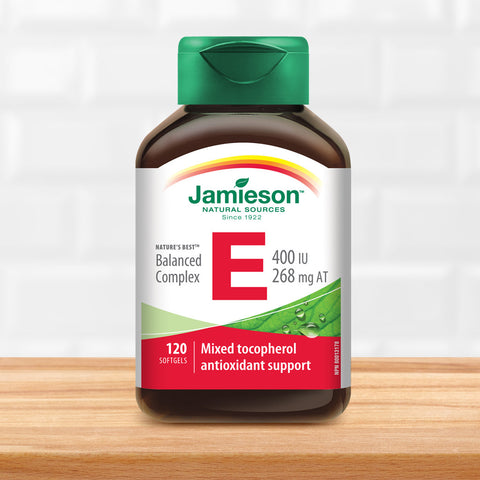 Balanced Vitamin E Complex 400 IU with Mixed Tocopherols