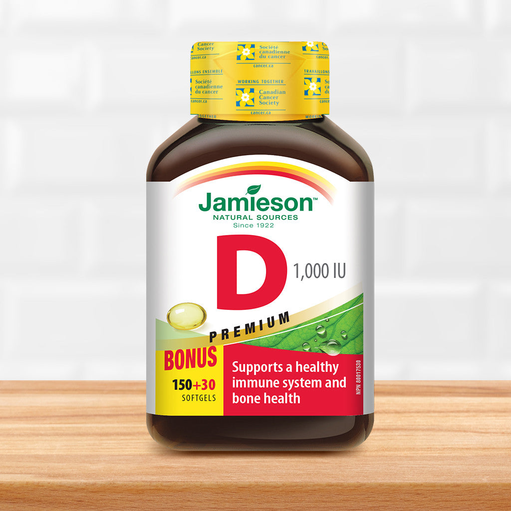 Vitamin D 1,000 IU Softgels - Premium