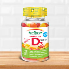 Vitamin D Gummies 1,000 IU - Orange, Strawberry, Lemon