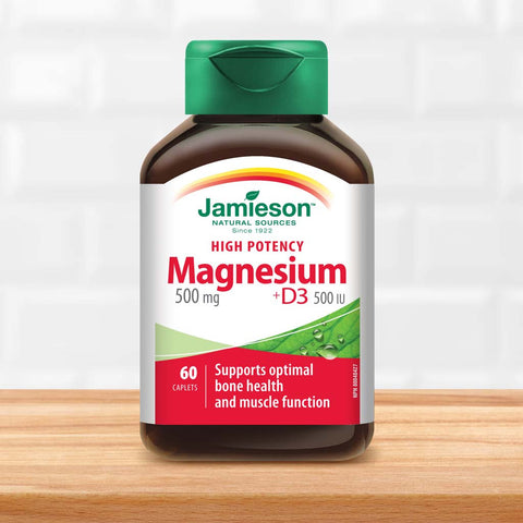 Magnesium 500 mg + D3 - High Potency
