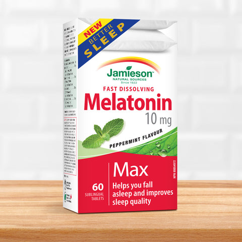 Melatonin 10 mg Fast Dissolving Tablets - Peppermint