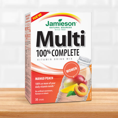 100% Complete Multivitamin for Women ‰ÛÒ Mango Peach Drink Mix