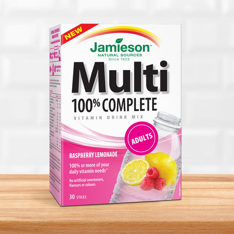 100% Complete Multivitamin ‰ÛÒ Raspberry Lemonade Drink Mix