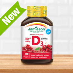 Vitamin D 1,000 IU Cherry Flavoured Fastmelt Tablets