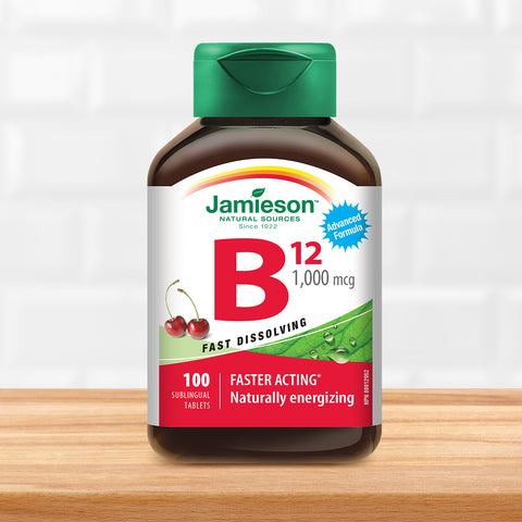 Vitamin B12 1,000 mcg (Methylcobalamin) Sublingual Tablets