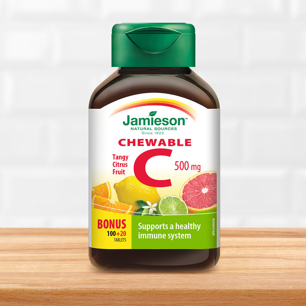 Vitamin C Chewable 500 Mg Citrus Fruit Jamieson Vitamins