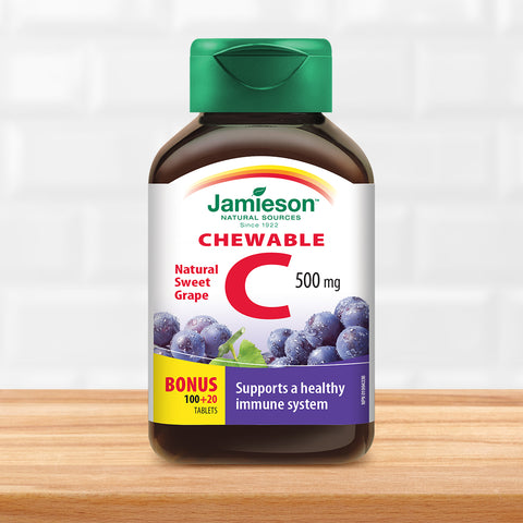 Vitamin C Chewable 500 mg - Grape Juice