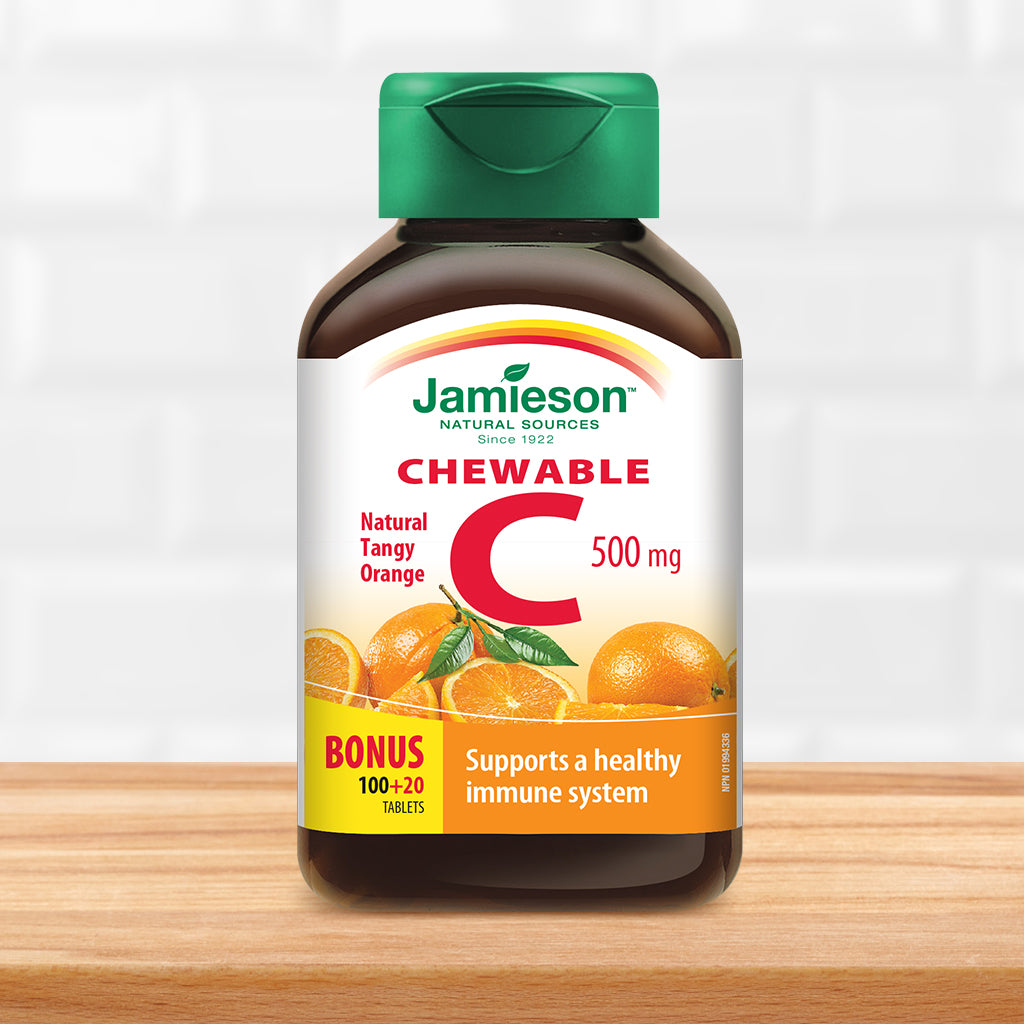 Vitamin C Chewable 500 mg - Tangy Orange