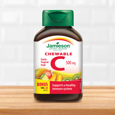 Vitamin C Chewable 500 mg - Tropical Fruit