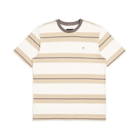 BRIXTON Hilt Standard Fit Knit Tee Off White