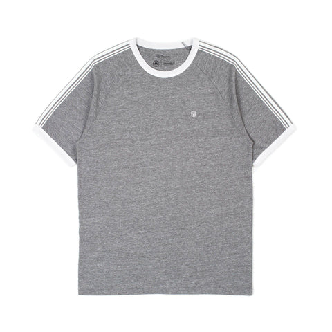 BRIXTON Este II Knit Tee Heather Grey/White