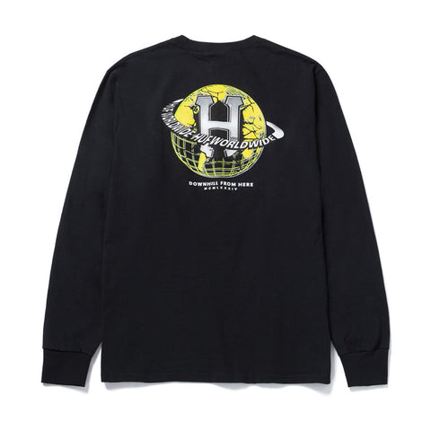 HUF Giga Melted Longsleeve Black