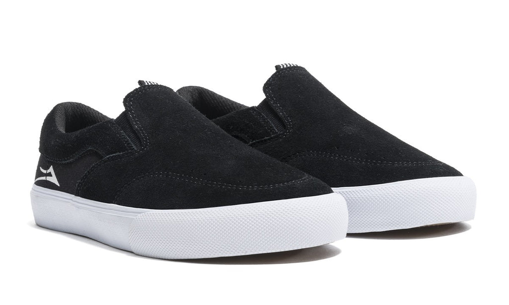 LAKAI Kid's Owen Shoes Black/White