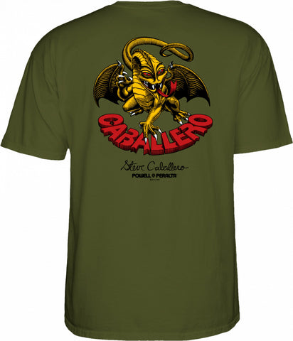 POWELL PERALTA Caballero Dragon II Tee Military Green