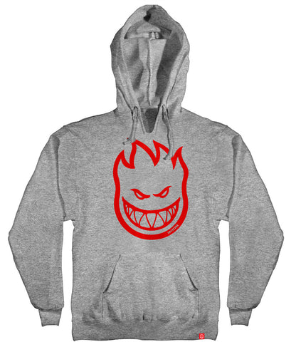 SPITFIRE Youth Bighead Pullover Hoodie Heather Grey/Red