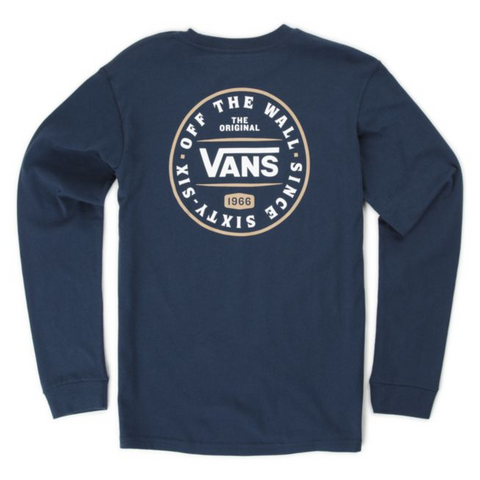 VANS Boy's The Original 66 Longsleeve Tee Dress Blue