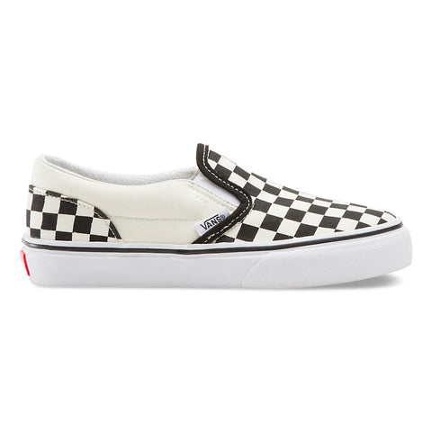 VANS Kid's Classic Slip-On (Checkerboard) Black/White