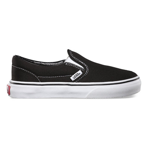 VANS Kid's Classic Slip-On Black/True White