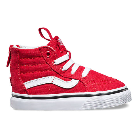 Vans Toddler Sk8-Hi Zip (Varsity) Racing Red/True White
