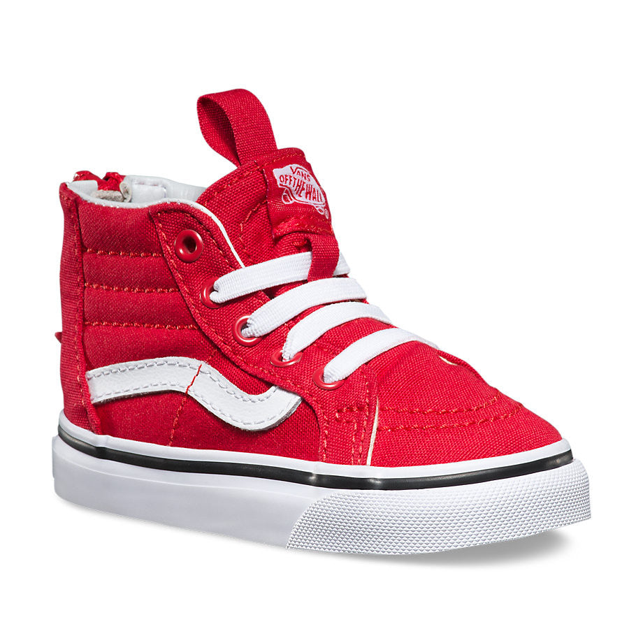 304ae5d382 Vans Toddler Sk8-Hi Zip (Varsity) Racing Red/True White