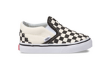 VANS Toddler Slip On Checkerboard Black/Off White/White