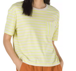 VANS Girl's Mini Check Top Lemon Tonic