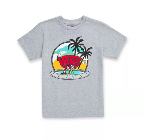 VANS Youth Dual Palm Grind Tee Athletic Heather