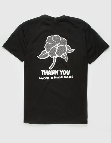 VANS Thank You Floral Tee Black