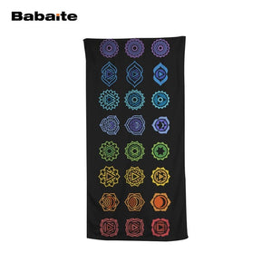 Babaite The 7 Main Chakras Beach Towel Kids Sports Swimming Wrap Yoga Mat Sheet Camping Blanket Serviette De Plage toalla playa