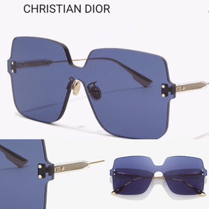 CHRISTIAN DIOR Blue Sunglasses Auth