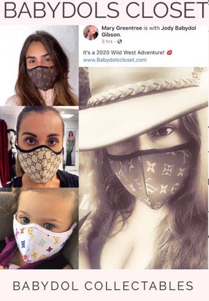 LOUIS VUITTON Inspired Protective Masks
