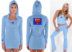 BABYDOL Baby Blue Hoodie Dress