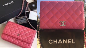 CHANEL Salmon Auth Vintage Classic Quilted Leather Bag