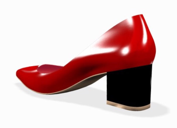 FIERCE Red Patent Leather w Chunky Heel