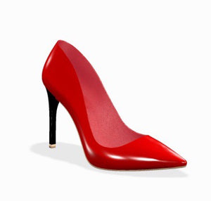 FIERCE Red Patent Leather Stiletto High Heel