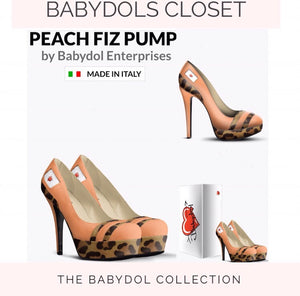 PEACH FIZZ Pump Peach Leather w Leopard Hair