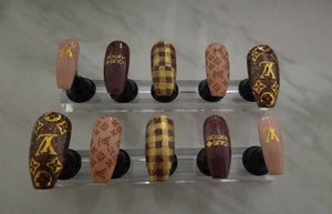 LV LOUIS VUITTON Inspired Nails