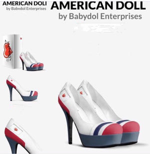 AMERICAN DOLL Platform Leather Pumps