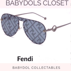 FENDI Logo Sunglasses Auth