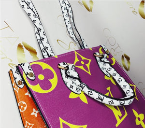 Louis Vuitton Montaigne Multi Color Leather Tote